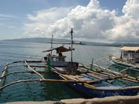Boats in the sea, in Pagadian.